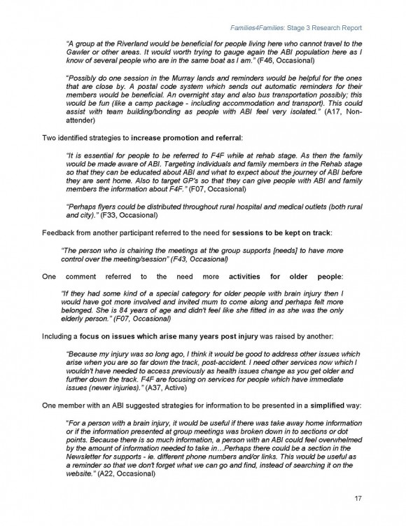 Families4Families Stage 3 Research Report_Page_21